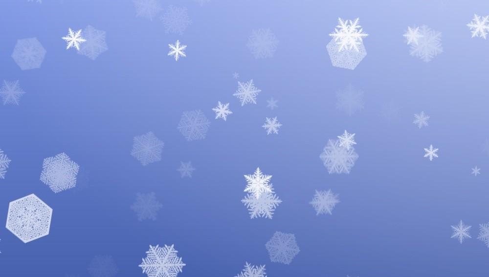 Падающий снег на сайте