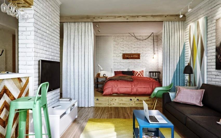 Как обставить однокомнатную квартиру красиво