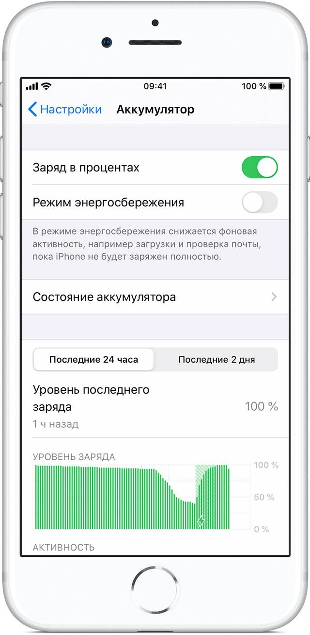 Как включить отображение заряда батареи в процентах на Android и iOS?