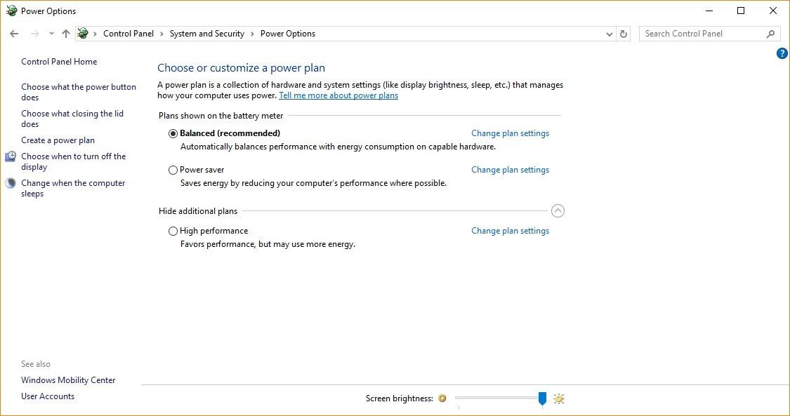 максимальная производительность в windows 10